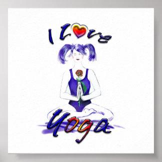 I Love Yoga-Lotus Pose Poster