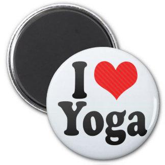 I Love Yoga Fridge Magnets