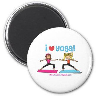 i love yoga fridge magnet