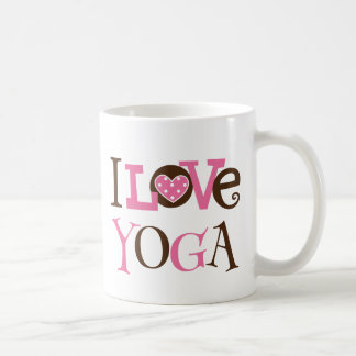 I Love Yoga meditation fitness lover mug gift