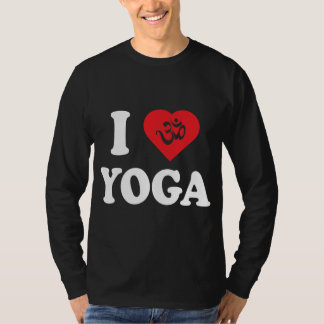 I Love Yoga Men's Dark T-Shirts