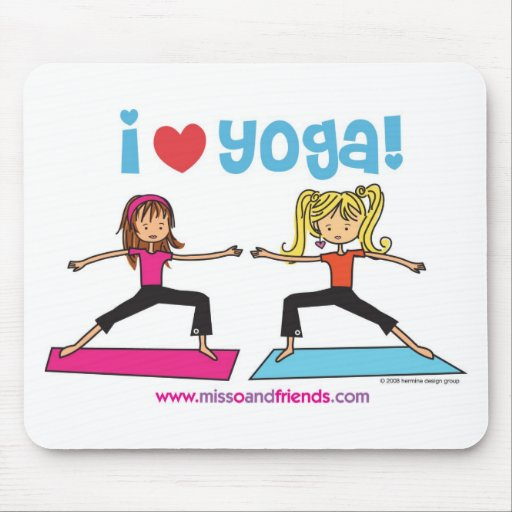 i love yoga mouse mat