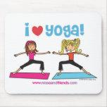 i love yoga mouse pad