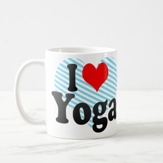 I love Yoga Classic White Coffee Mug