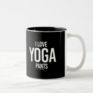 I Love yoga pants -   Yoga Fitness -.png Two-Tone Coffee Mug