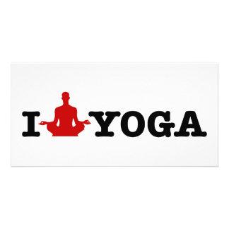 I Love Yoga Photo Card Template