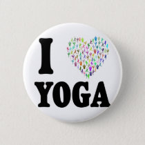 I Love Yoga Pinback Button
