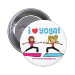 i love yoga pinback button