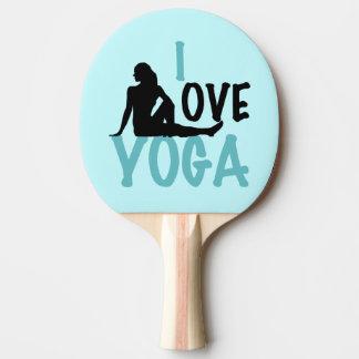I Love Yoga Ping-Pong Paddle