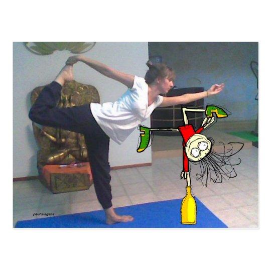 'i love yoga !' postcard