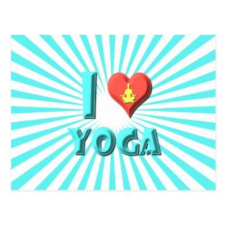 I Love Yoga Postcard