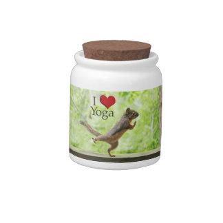 I Love Yoga Squirrel Candy Dish