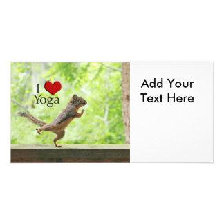 I Love Yoga Squirrel Card