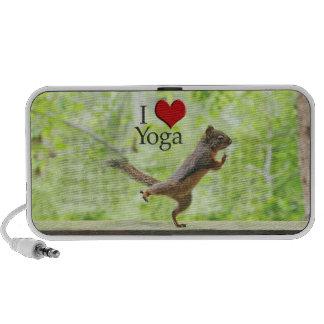 I Love Yoga Squirrel Mini Speaker