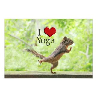 I Love Yoga Squirrel Photographic Print