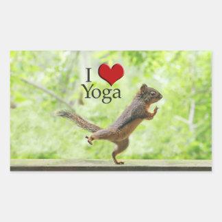 I Love Yoga Squirrel Stickers