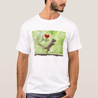 I Love Yoga Squirrel T-Shirt