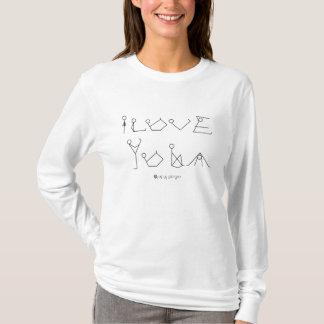 I Love Yoga Stick Figures T-Shirt