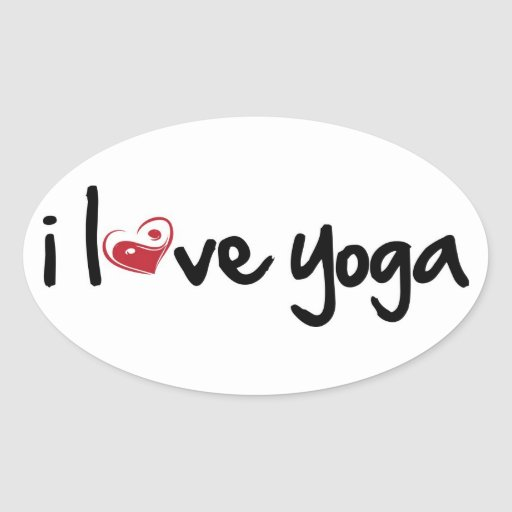 I love yoga sticker