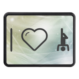 I Love Yoga Tow Hitch Cover