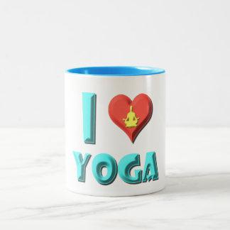 I Love Yoga Two-Tone Coffee Mug