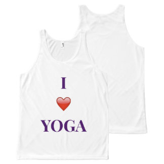 I Love Yoga Unisex Tank Top