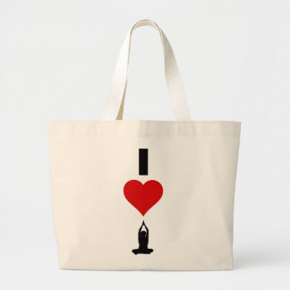 I Love Yoga (Vertical) Jumbo Tote Bag