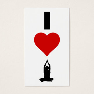 I Love Yoga (Vertical) Business Card