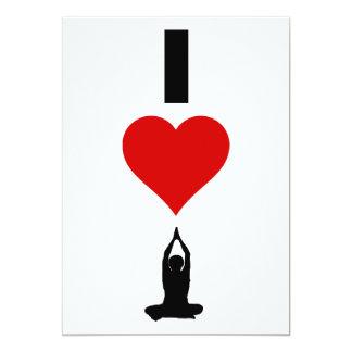 I Love Yoga (Vertical) Card