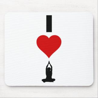 I Love Yoga (Vertical) Mouse Pad