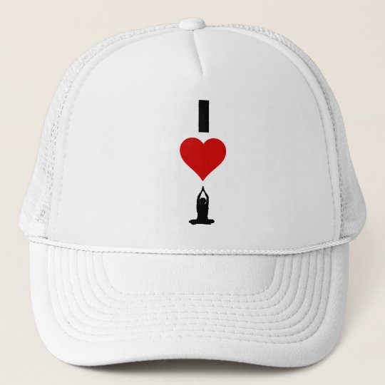 I Love Yoga (Vertical) Trucker Hat