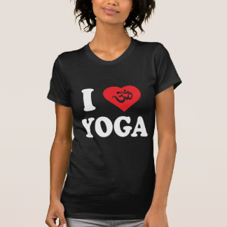 I Love Yoga Women's Dark T-Shirts Tee Shirt