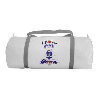 I love Yoga!-Yoga Girl Duffle Bag