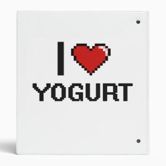 I Love Yogurt 3 Ring Binder