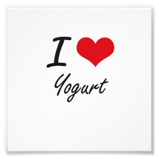 I love Yogurt Photo Print