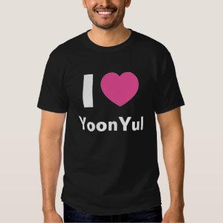 I Love YoonYul T Shirt (black)