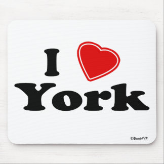 I Love York Mouse Pad