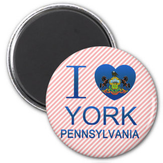 I Love York, PA Refrigerator Magnet