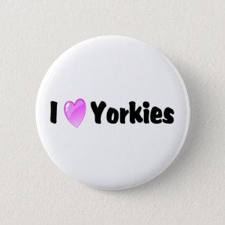 I Love Yorkies Button