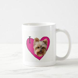 I Love Yorkies Coffee Mug