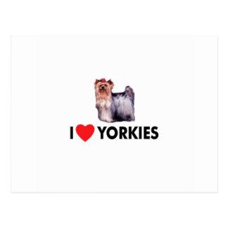 I Love Yorkies Postcard