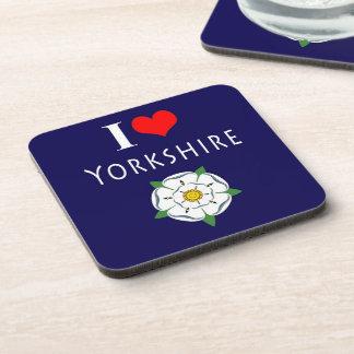 I love Yorkshire cork coasters (Set of 6)