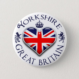 I Love Yorkshire Pinback Button