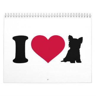 I love Yorkshire Terrier Calendar