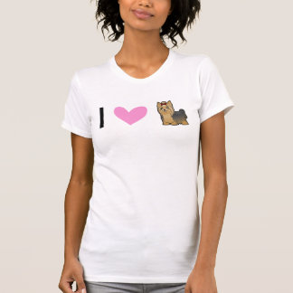 I Love Yorkshire Terriers (long hair with bow) T Shirts