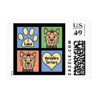 I Love Yorkshire Terriers Postage Stamp