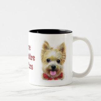 I Love Yorkshire Terriers Two-Tone Coffee Mug