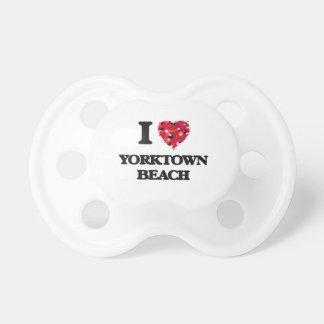 I love Yorktown Beach Virginia BooginHead Pacifier