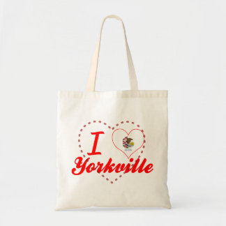 I Love Yorkville, Illinois Tote Bags