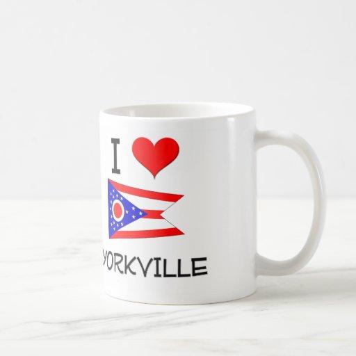 I Love Yorkville Ohio Mugs
